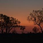 058. zonsondergang in Botswana