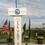 001. end of Alaska Highway at Delta Junction