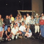 group photo with Sandy and stand-in John Wayne